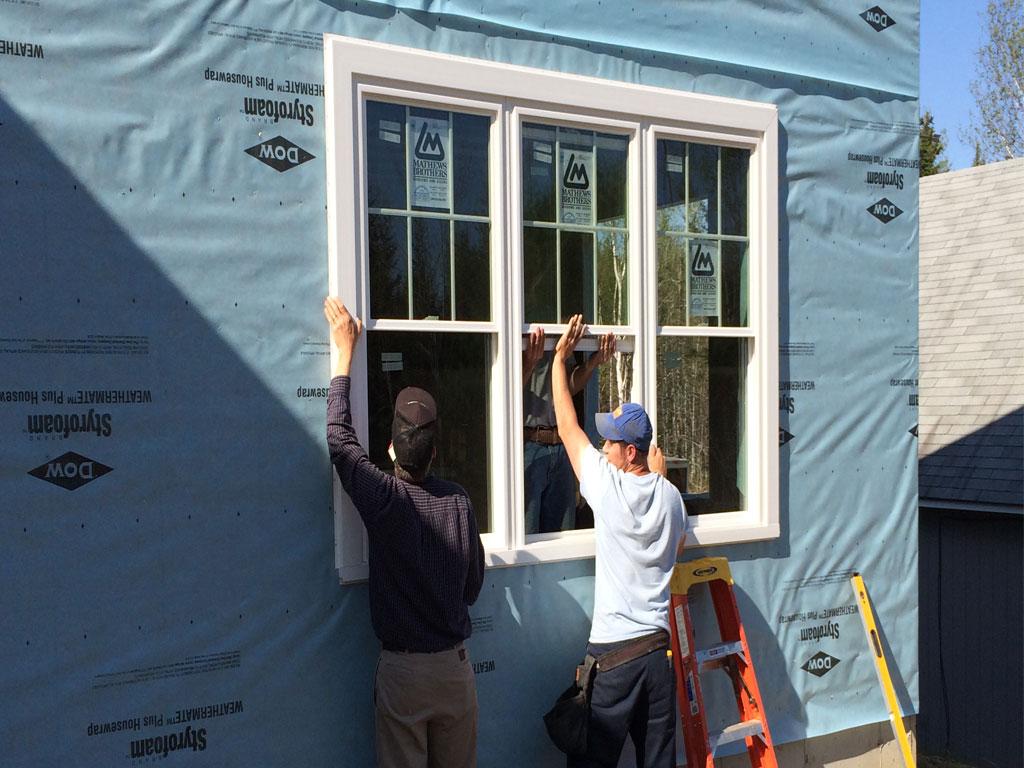 3 Ganged Window Install